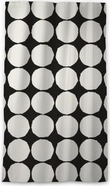 Blickdichter Fenstervorhang Nahtlose Muster mit grafischen geometrischen Elementen