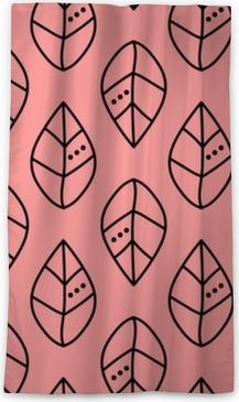 Blickdichter Fenstervorhang Nahtloser Vektorentwurf lässt Muster auf rosa Hintergrund. Design für Tapeten, Stoffe, Textilien, Verpackungen. einfacher hintergrund