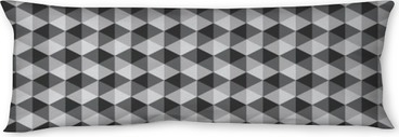 abstract retro geometric pattern black and white color tone vect Body Pillow