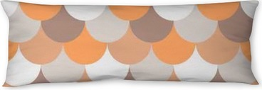 abstract seamless geometric pattern Body Pillow