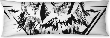 Owl in vector Body Pillow