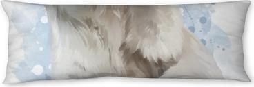 Polar bear watercolor painting Body Pillow