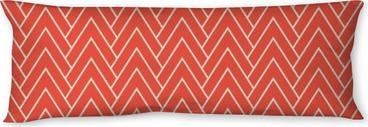 red chevron pattern Body Pillow