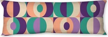 seamless vintage geometric pattern Body Pillow