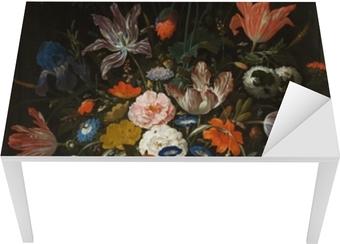 Abraham Mignon - Flowers in a Glass Vase Bord og skrivbordfiner