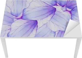 Akvarel sømløs mønster med lilla blomsterblad Bord og skrivbordfiner