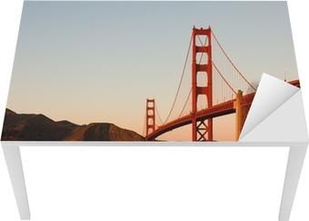 Golden Gate Bridge i San Francisco ved solnedgang Bord og skrivbordfiner