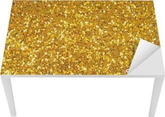 Gylden glitter baggrund Bord og skrivbordfiner