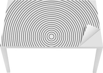 Koncentrisk cirkel element på en hvid baggrund Bord og skrivbordfiner