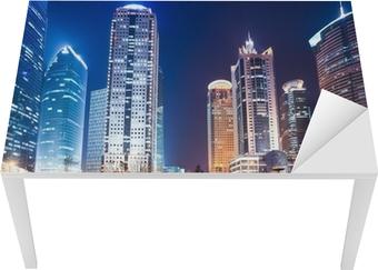 Nat udsigt over shanghai finansielle center distriktet Bord og skrivbordfiner