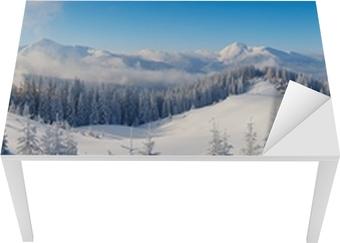 Panorama over vinterbjerge Bord og skrivbordfiner