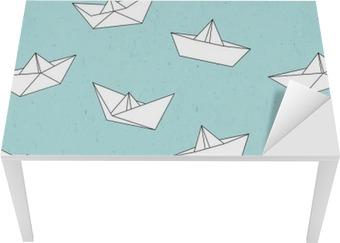 Papirbåd mønster Bord og Skrivbordfiner
