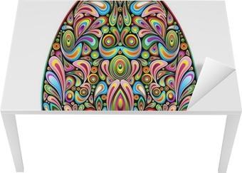 Påskeæg Psychedelic Art Design Uovo di Pasqua Ornamentale Bord og skrivbordfiner