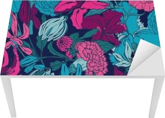 Sømløse mønster med lilium, ylang, roser, nelliker blomster. farverige vektor illustration. print til hjem tekstil og tøj, stof, tekstil Bord og skrivbordfiner