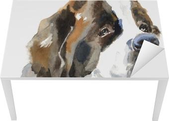 St. bernhardshund hund portræt Bord og skrivbordfiner