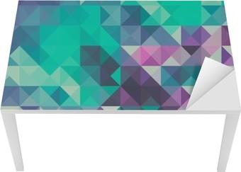 Triangle baggrund, grøn og violet Bord og Skrivbordfiner