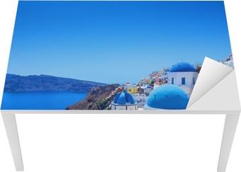 Village of Oia i Santorini Bord og skrivbordfiner