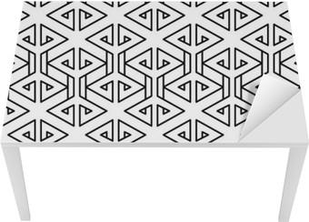 Bord- og skrivebordsklistremerke Abstrakt geometrisk svart og hvitt hipster mote pute mønster
