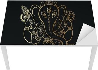 Bord- og skrivebordsklistremerke Ganesha Håndtegnet illustrasjon.