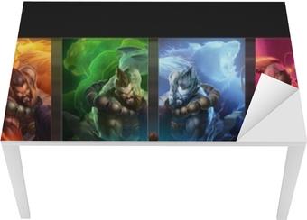 Bord- og skrivebordsklistremerke League of Legends