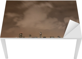 Bord- og skrivebordsklistremerke Liverpool fyrverkeri Panorama på nyttårsaften
