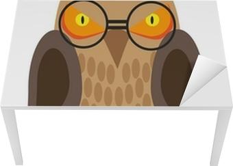 38b8ff7644f7 Plakat Malte ugle med briller på en hvit bakgrunn • Pixers® - Vi lever for  forandring