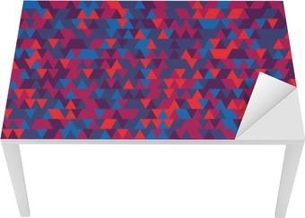 Bureau- en Tafelsticker Abstracte achtergrond van de driehoeken. De gradatie van Violet. Paarse tinten.