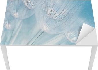 Bureau- en Tafelsticker Abstracte paardebloem bloem achtergrond