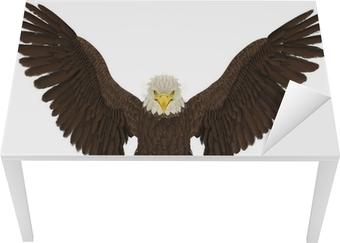 Bureau- en Tafelsticker American bald eagle jacht voor aanval