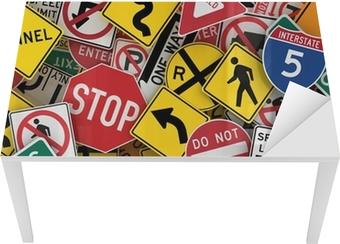 Bureau- en Tafelsticker Amerikaanse verkeersborden