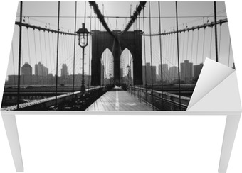 Bureau- en Tafelsticker Brooklyn Bridge, Manhattan, New York City, Verenigde Staten
