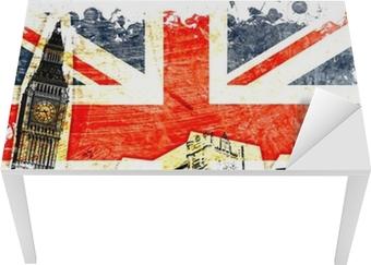 Bureau- en Tafelsticker Engels vlag geëtste