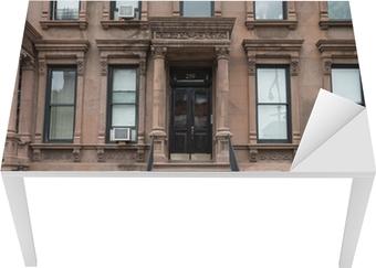 Bureau- en Tafelsticker Harlem New York bruine gebouwen