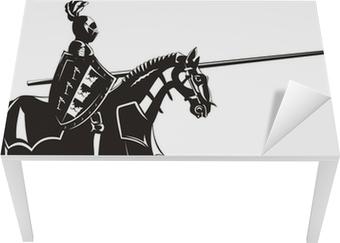 Bureau- en Tafelsticker Middeleeuwse ridder