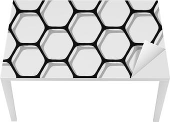 Bureau- en Tafelsticker Naadloze zeshoeken patroon.