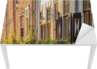 Bureau- en Tafelsticker Oude huizen in het historische centrum van de Nederlandse stad Amersfoort