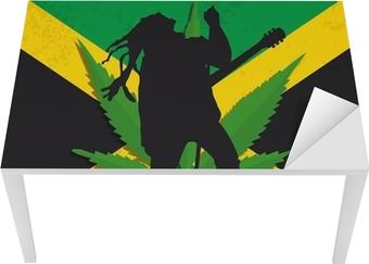 Bureau- en Tafelsticker Rasta Jamaïque