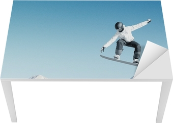 Bureau- en Tafelsticker Snowboarding sport
