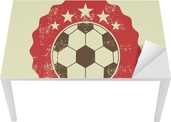 Bureau- en Tafelsticker Voetbal ontwerp