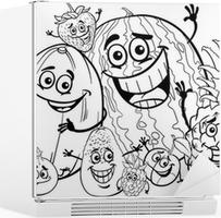 Boyama Kitabı Için Komik Meyveler Karikatür Poster Pixers Haydi