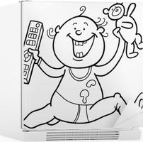 Boyama Kitabı Için Uzaktan Kumanda Ve Oyuncak Ayı Ile çocuk Poster