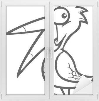 Boyama Kitabı Için Küçük Kuş Karikatür Tuval Baskı Pixers Haydi