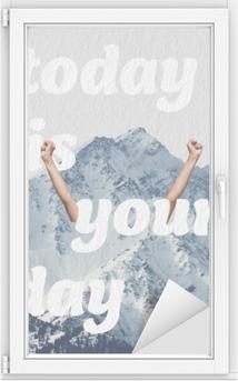 Cam ve Pencere Çıkartması Bugün senin günün