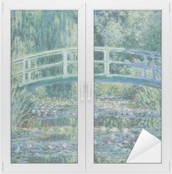Cam ve Pencere Çıkartması Claude Monet - Beyaz Waterlilies