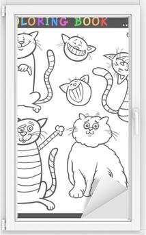 Karikatür Kediler Veya Yavruları Boyama Sayfa
