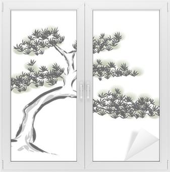 Mürekkep Boyama çam Ağacı Duvar Resmi Pixers Haydi Dünyanızı