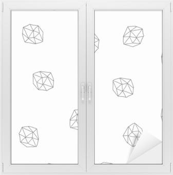 Cam ve Pencere Çıkartması Özet Çokgenler Dikişsiz Desen