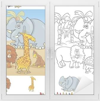 Sayfa Grubunu Boyama Afrika Hayvanları