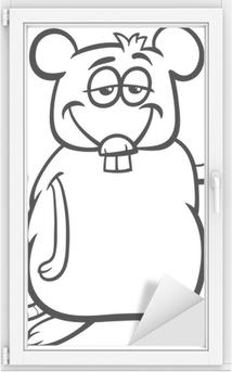 Hamster Karikatür Boyama Cam Ve Pencere çıkartması Pixers Haydi