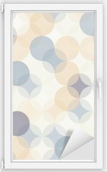 Cam ve Pencere Çıkartması Vektör Modern kesintisiz renkli geometri desen çevreler, renk soyut geometrik arka plan, duvar kağıdı baskı, retro doku, yenilikçi moda tasarımı, __